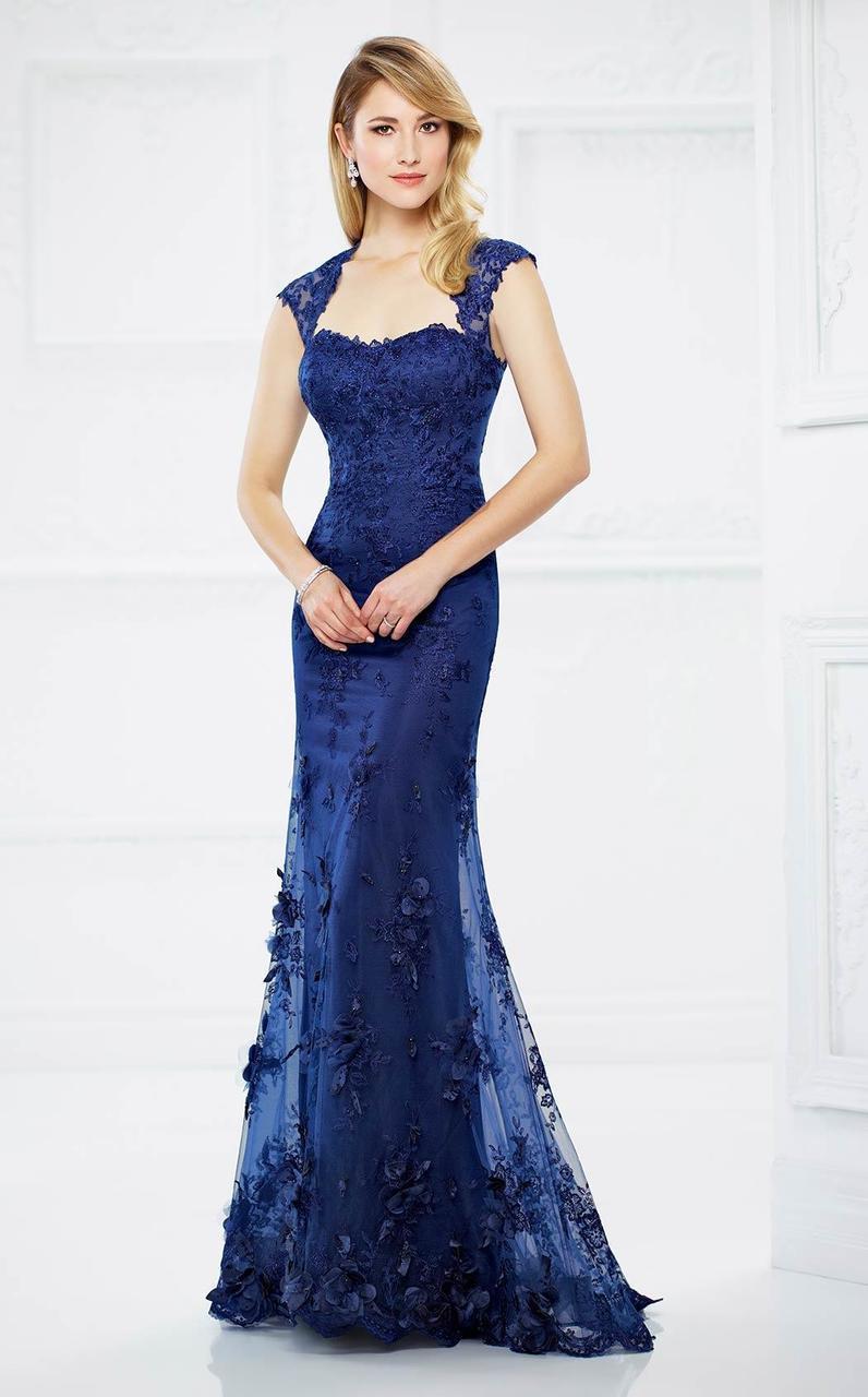 Montage by Mon Cheri - 217934 Lace Queen Anne Dress