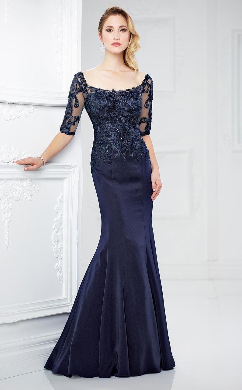Montage by Mon Cheri - 217937 Elegant Lace Mermaid Gown