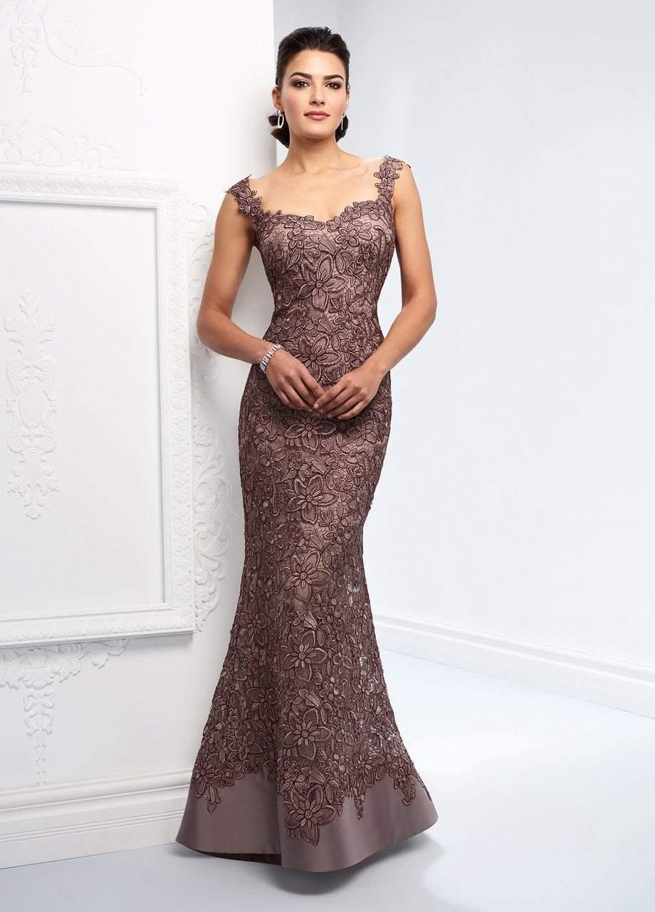 Ivonne D for Mon Cheri - 218D23 Allover Lace Sweetheart Trumpet Dress