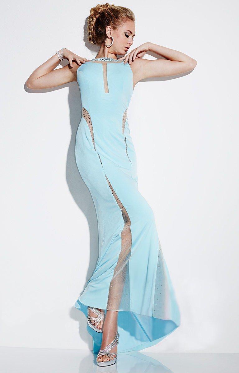Studio 17 - 12493 Sleeveless Sheer Beaded Cutout Dress
