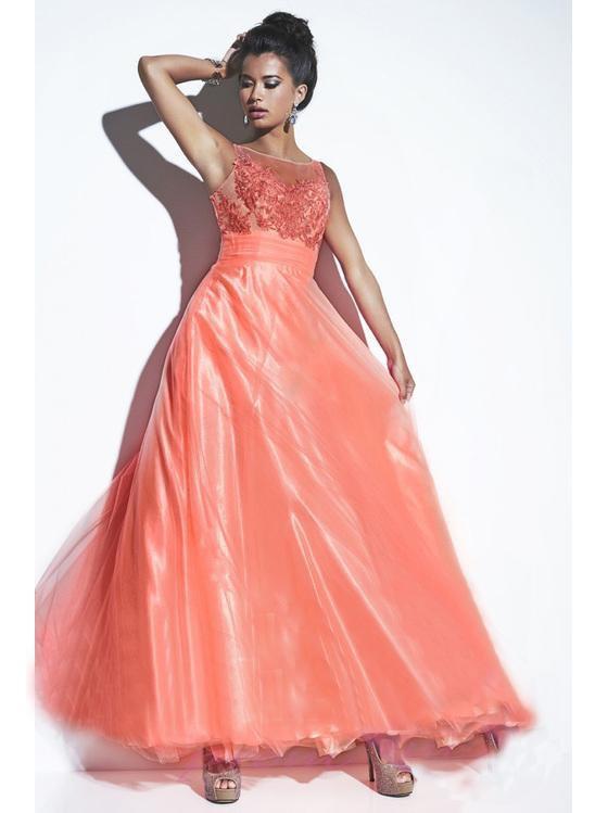 Studio 17 - 12496 Sleeveless Empire Lace and Chiffon Long Gown
