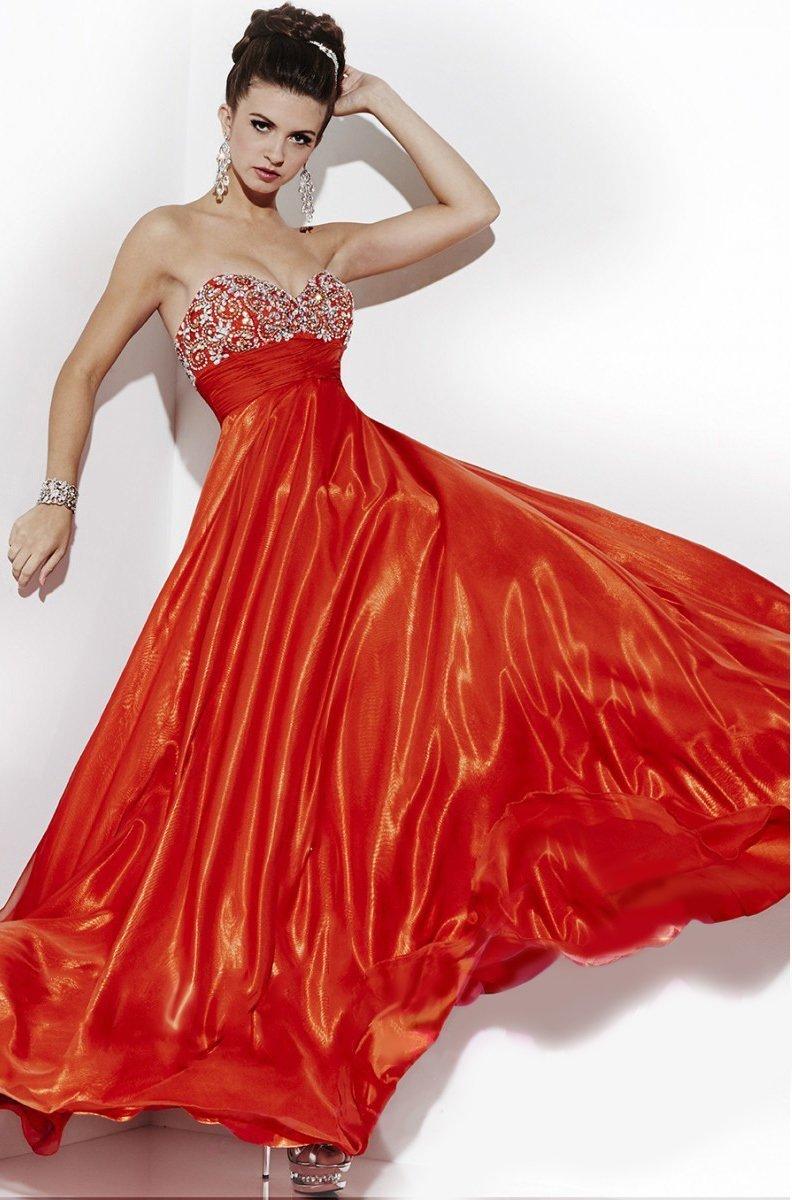 Studio 17 - 12501 Strapless Glittering Sweetheart Chiffon Long Gown