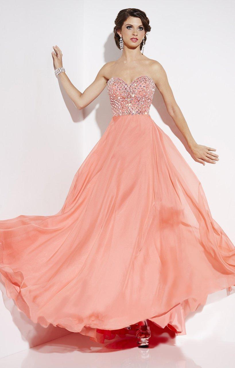 Studio 17 - 12543 Beaded Chiffon A-line Dress