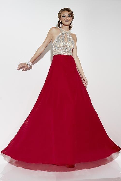 Studio 17 - 12553 Halter Embellished A-line Gown