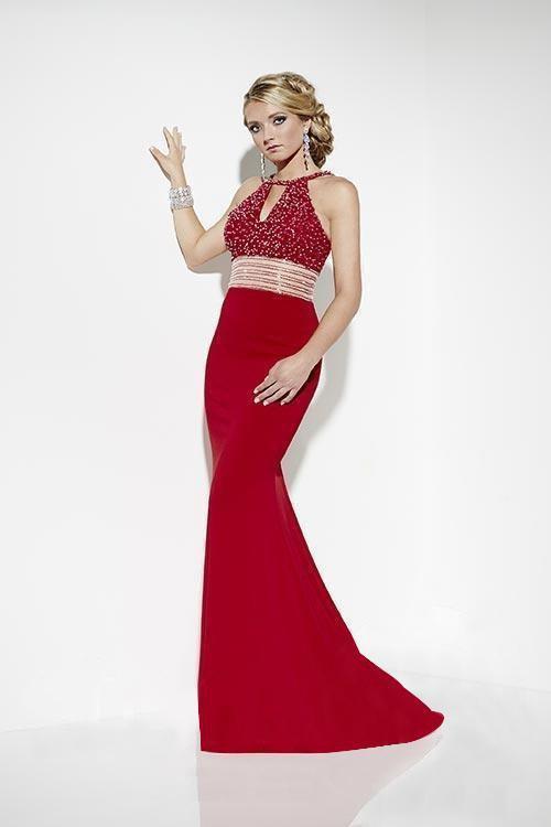Studio 17 - 12566 Beaded Halter Trumpet Dress
