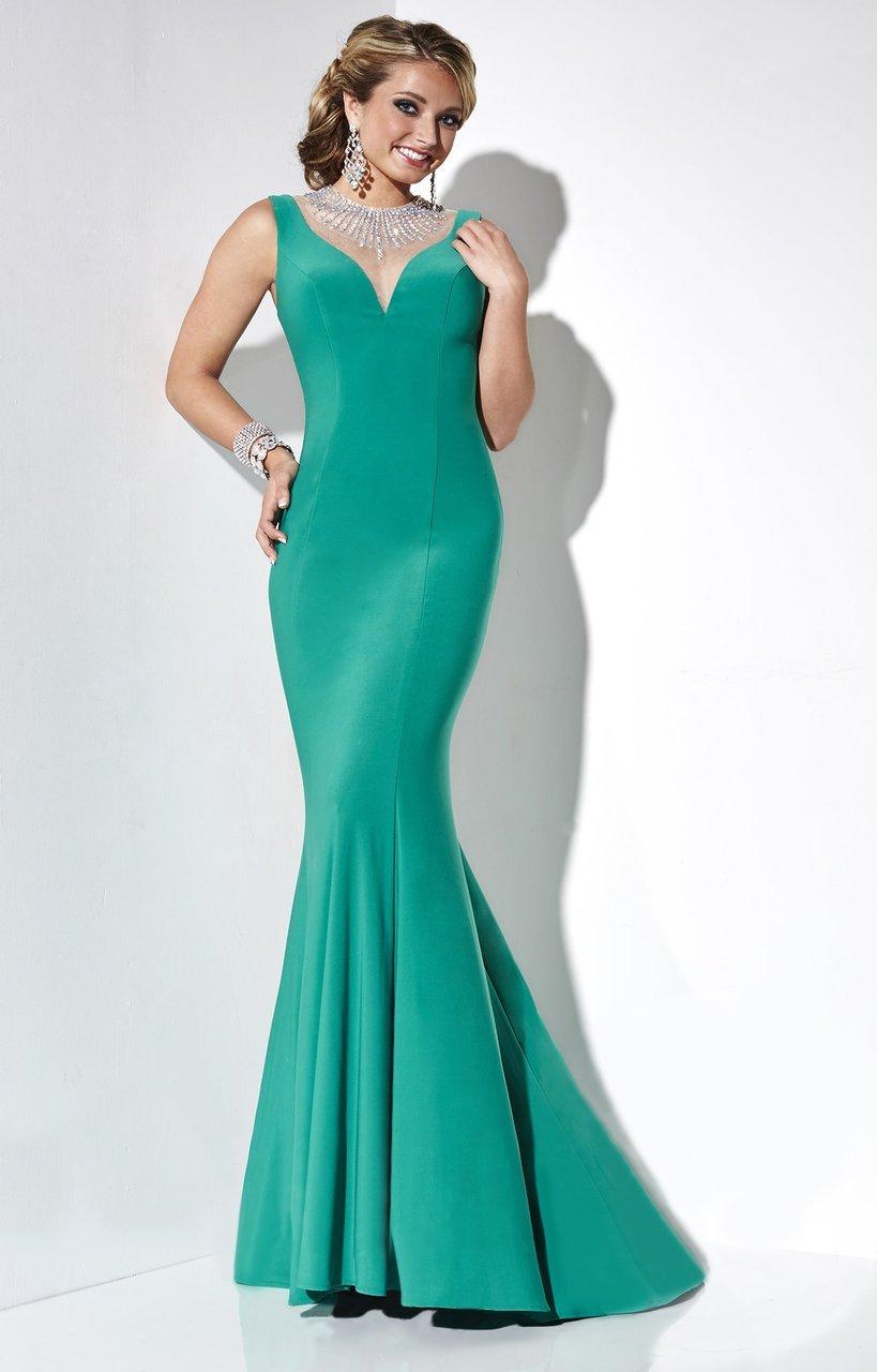 Studio 17 - 12572 Illusion Jewel Mermaid Dress