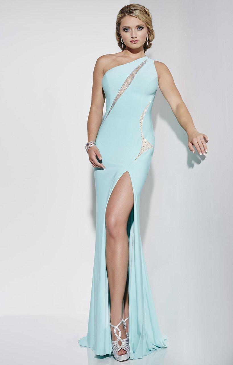 Studio 17 - 12574 Beaded One Shoulder Dress