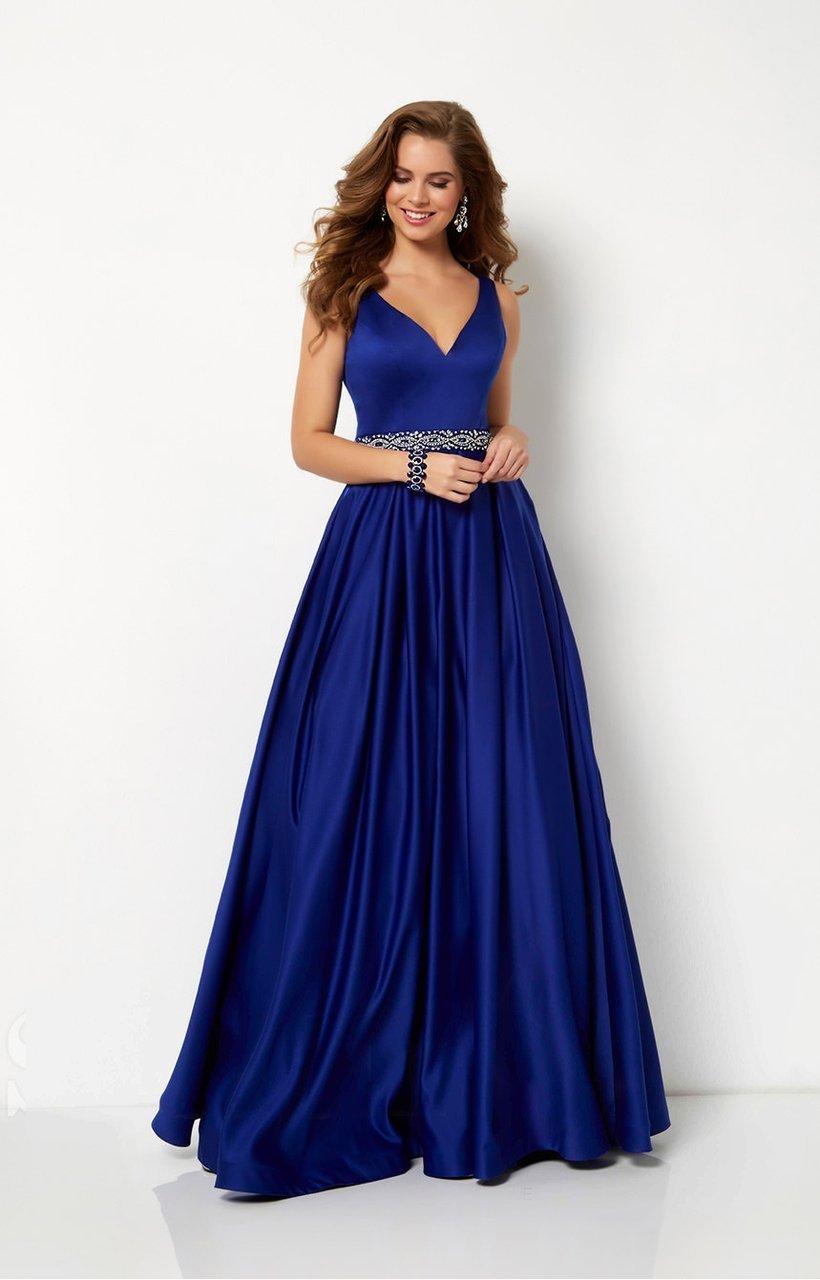 Studio 17 - 12654 Sleeveless V-Neck Satin A-Line Gown