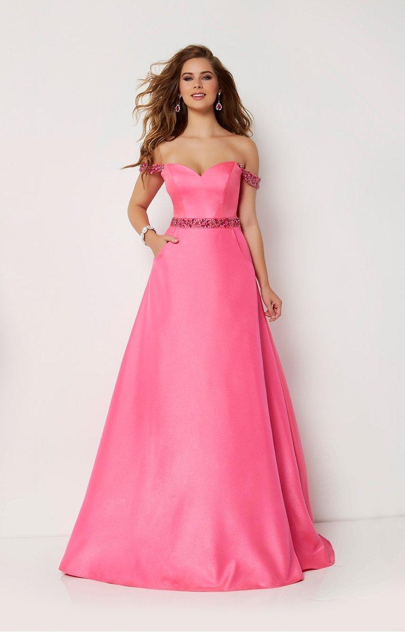 Studio 17 - 12660 Rhinestone Accented Sweetheart A-line Dress