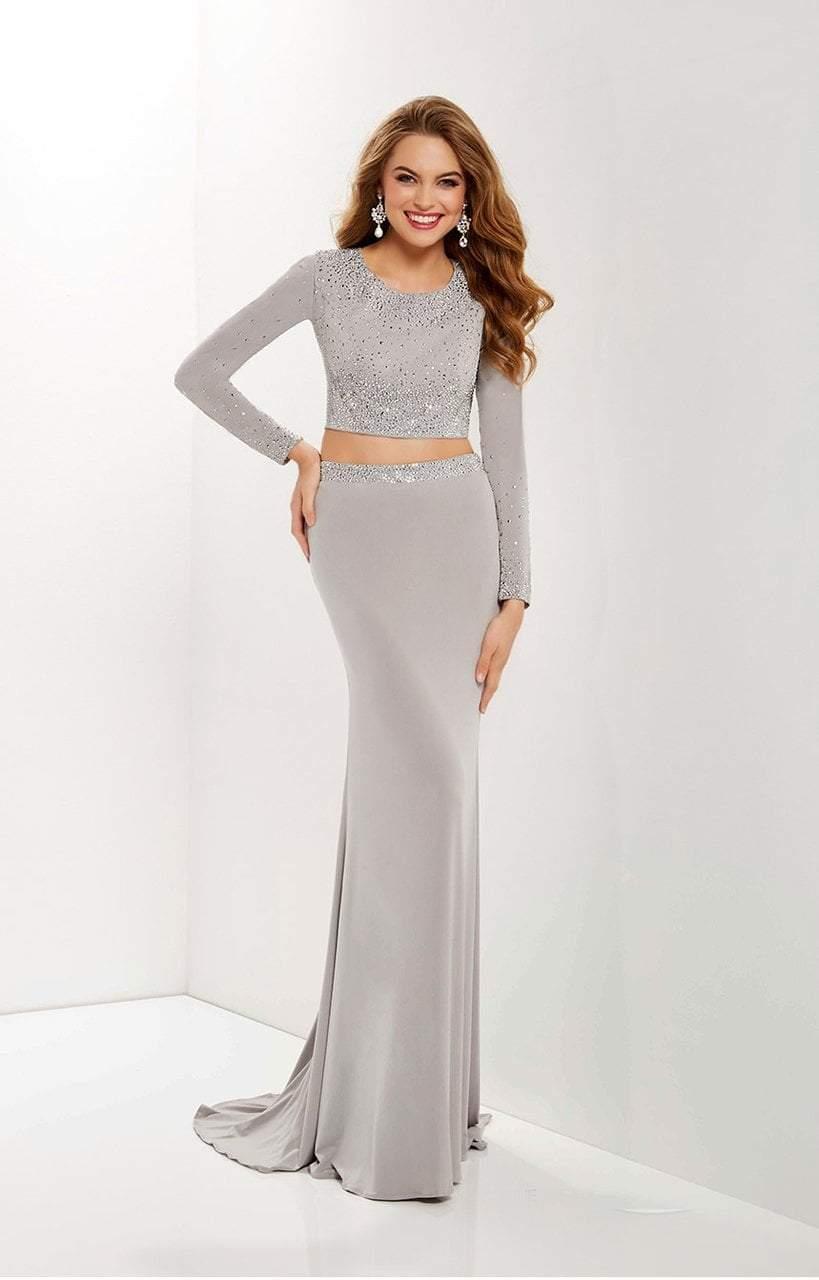 Studio 17 - 12665 Two-Piece Jewel Ornate Long Sleeve Gown