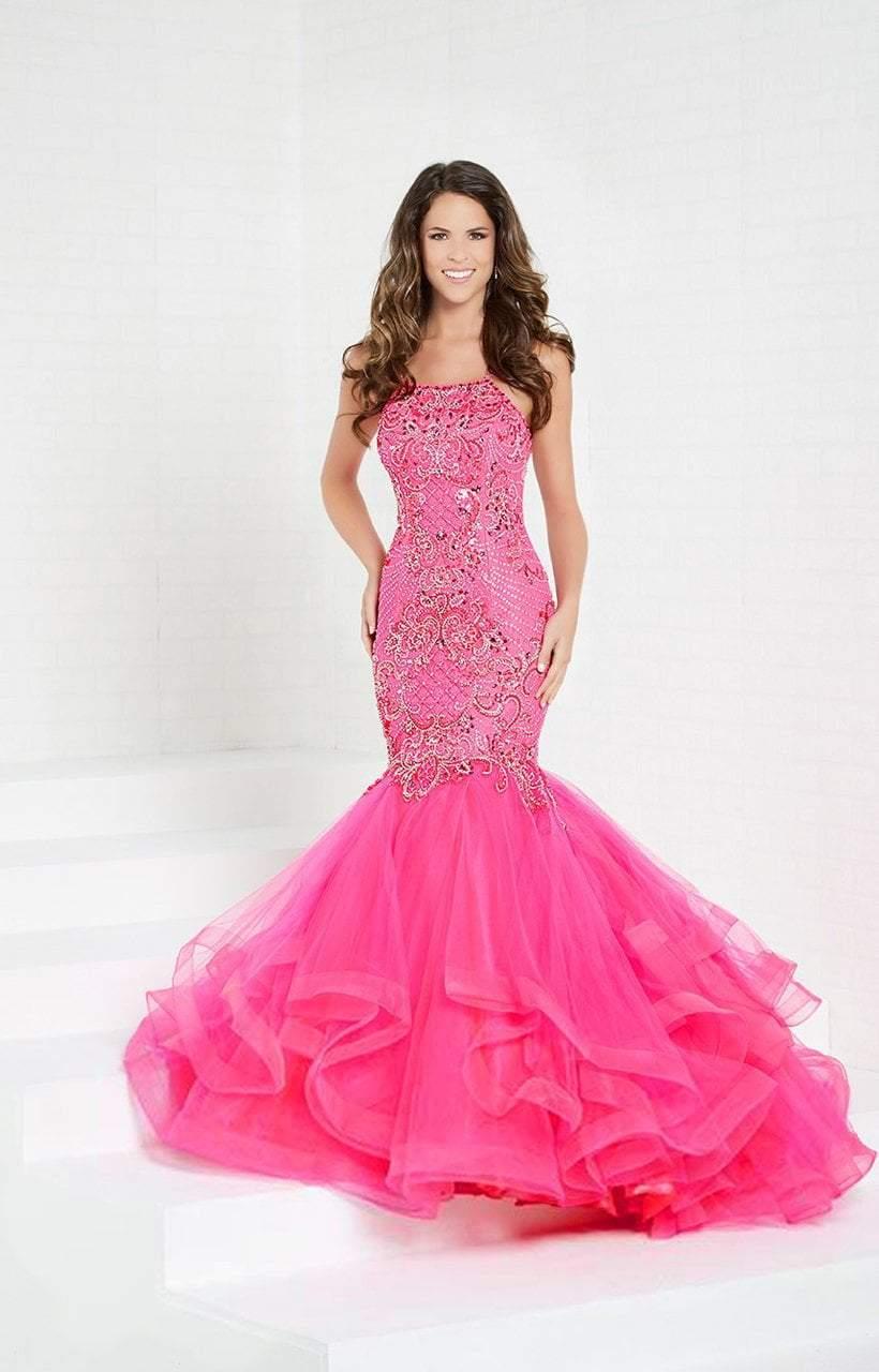 Tiffany Designs - 16280 Embellished Halter Mermaid Dress