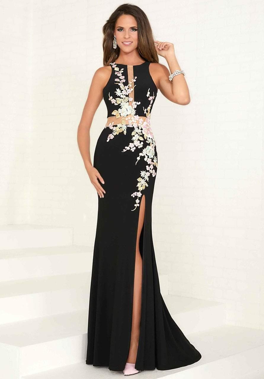 Tiffany Designs - 16282 Multi-Colored Embellished Halter Sheath Dress