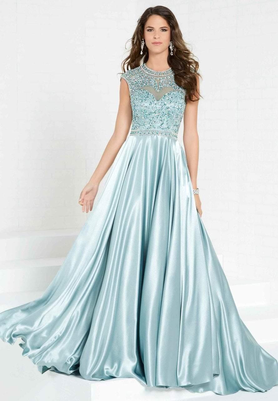 Tiffany Designs - 16304 Beaded Jewel Satin A-line Dress