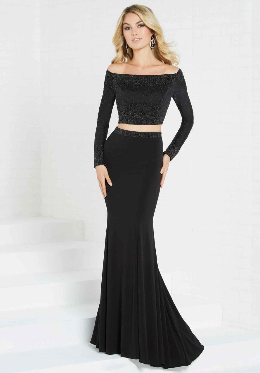 Tiffany Designs - 16311 Two Piece Long Sleeve Jersey Dress