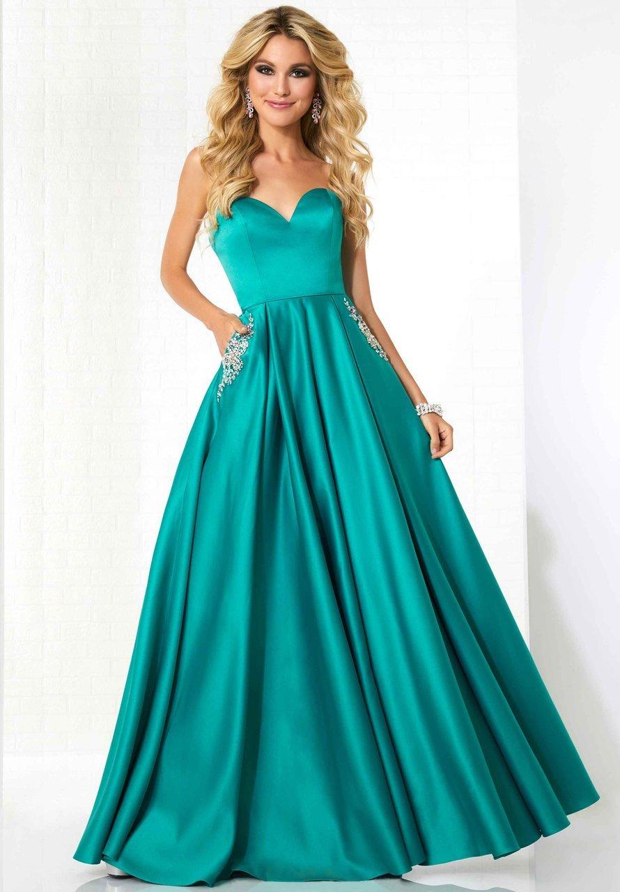 Tiffany Designs - 46120 Strapless Sweetheart Satin Ballgown