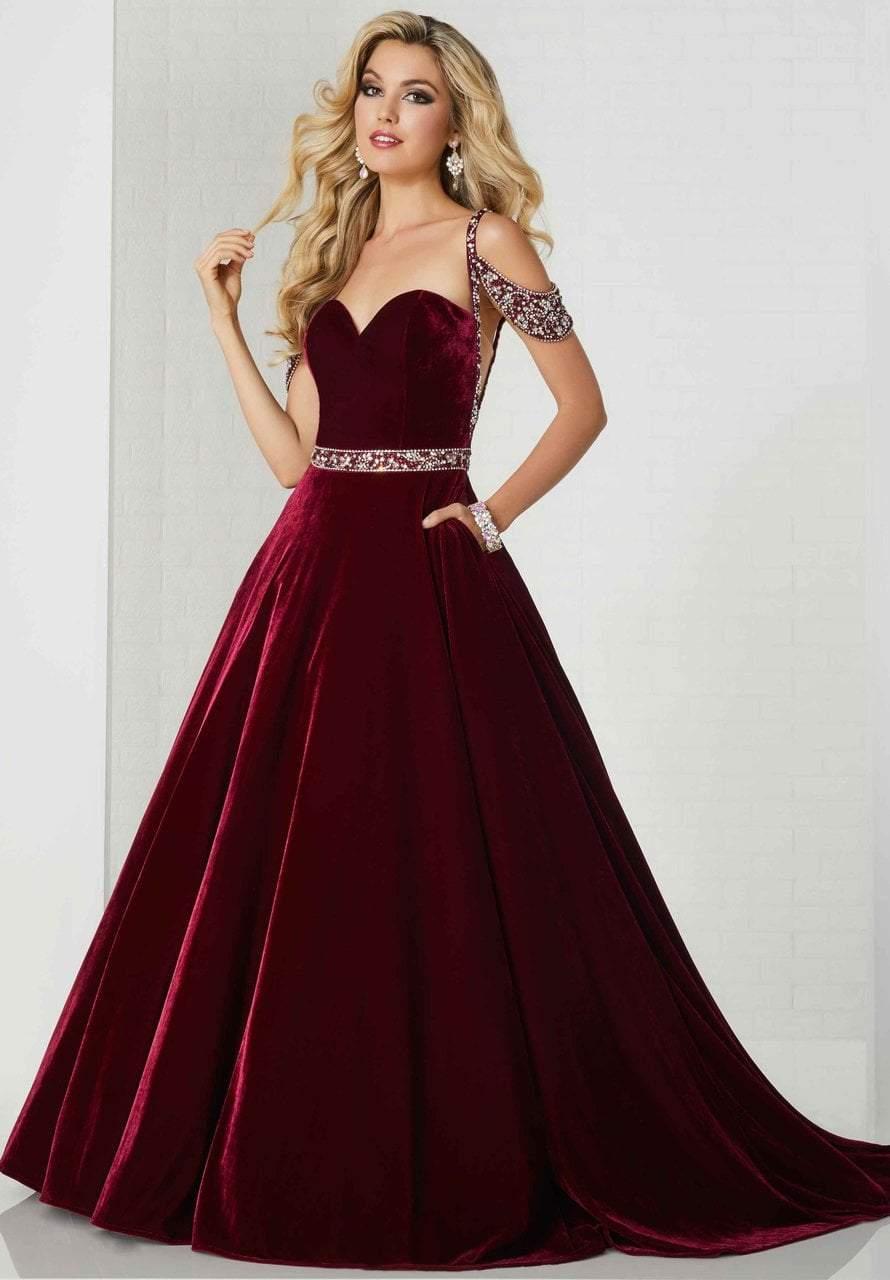 Tiffany Designs - 46146 Sweetheart Beaded Velvet Ballgown