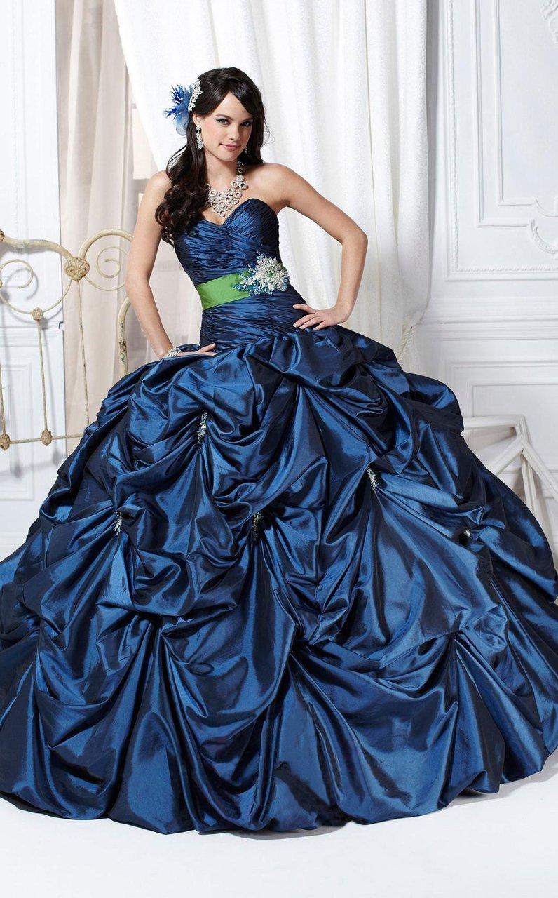 Tiffany Designs - 56218 Strapless Shirred Wrap Bodice Ballgown