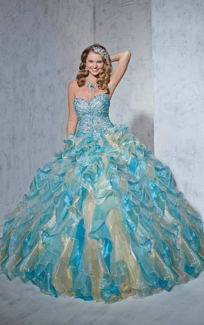 Tiffany Designs - 56251 Bedazzled Sweetheart Organza Ruffled Ballgown