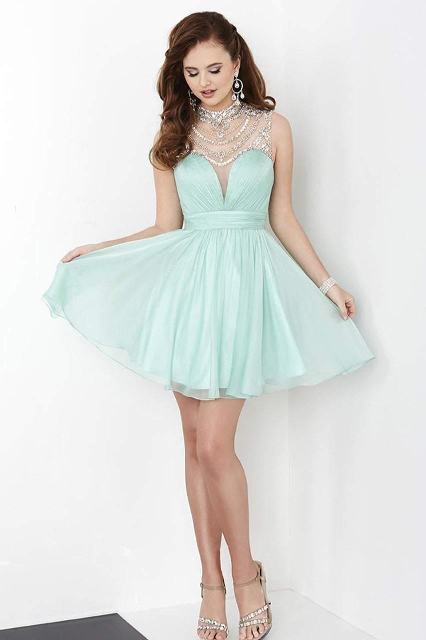 Tiffany Homecoming - 27059 Embellished Neckline Short Chiffon Dress