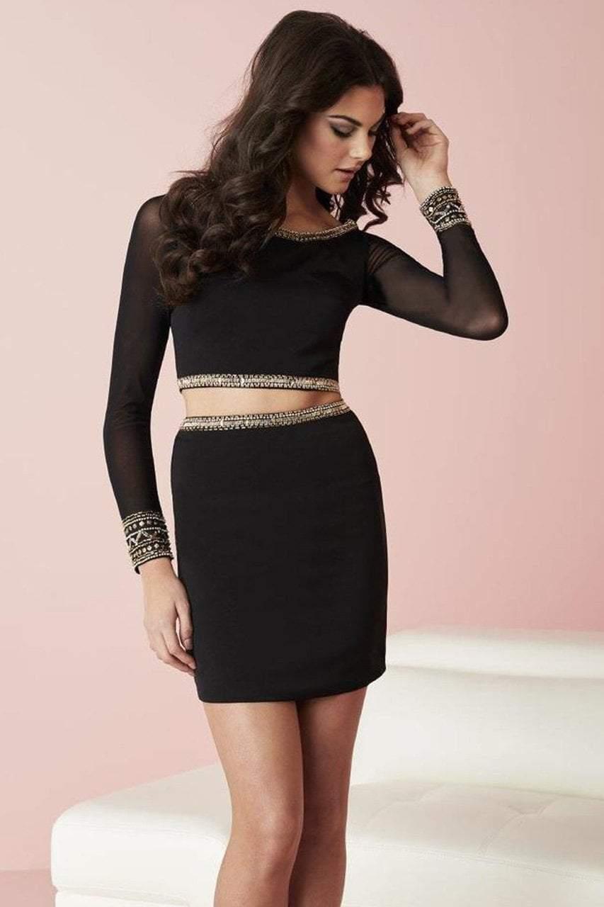 Tiffany Homecoming - 27108 Two Piece Sheer Long Sleeve Dress