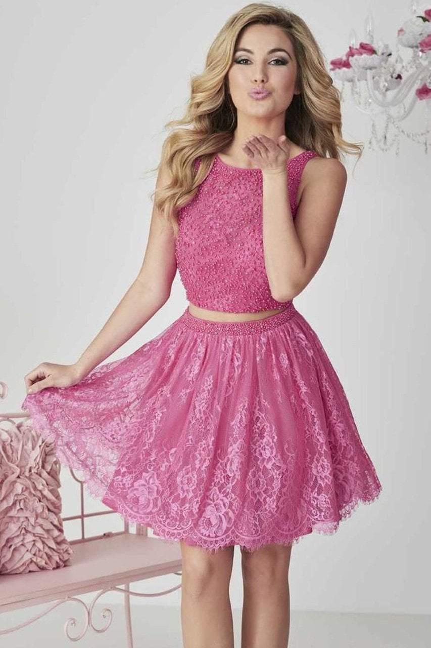 Tiffany Homecoming - 27120 Short Lace A-Line Beaded Dress