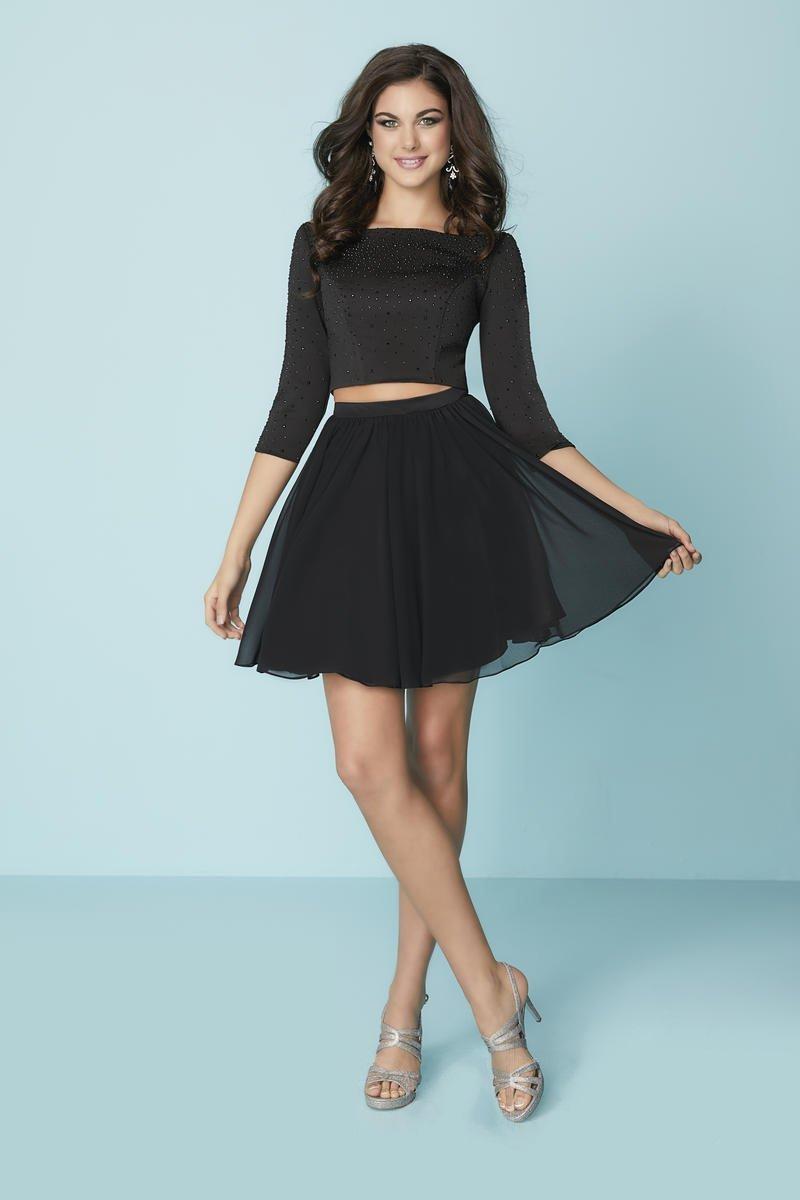 Tiffany Homecoming - 27163 Two Piece Beaded Jersey Chiffon A-line Dress