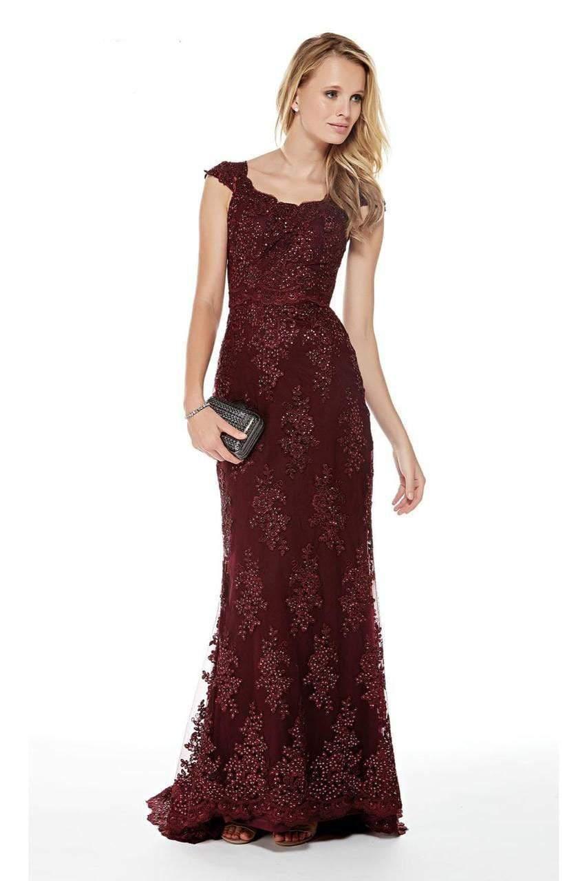 Alyce Paris - 27042 Scalloped Lace Sheath Evening Dress