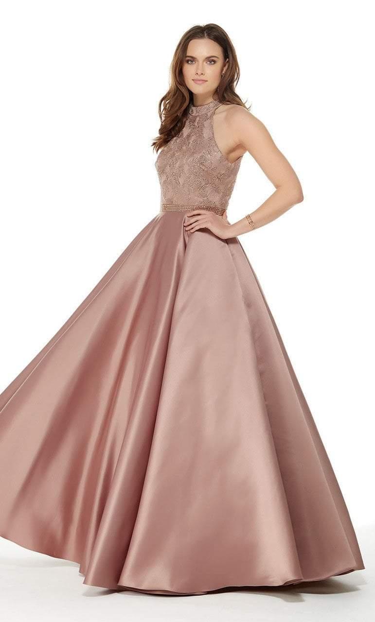 Alyce Paris - 5021 Sleeveless Beaded Lace High Neck Ballgown