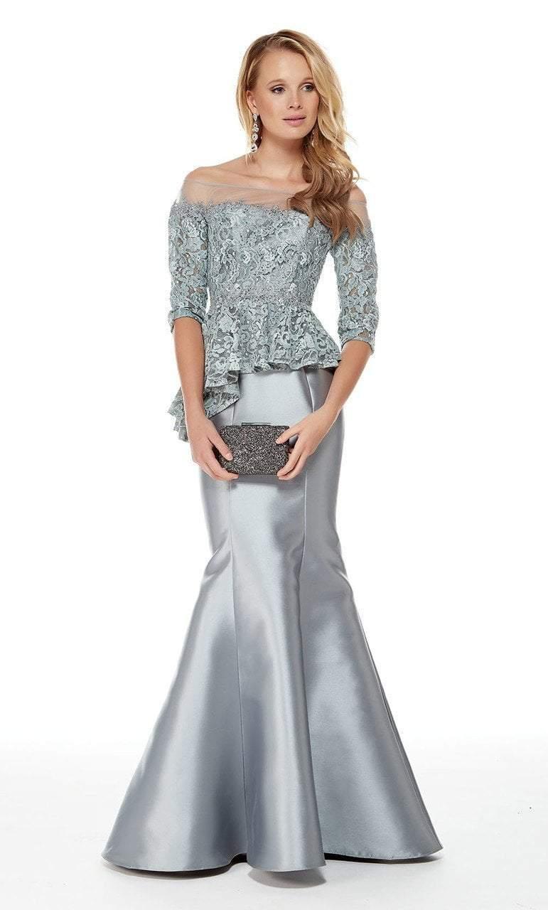 Alyce Paris - 27002 Lace Illusion Off-Shoulder Mikado Trumpet Dress