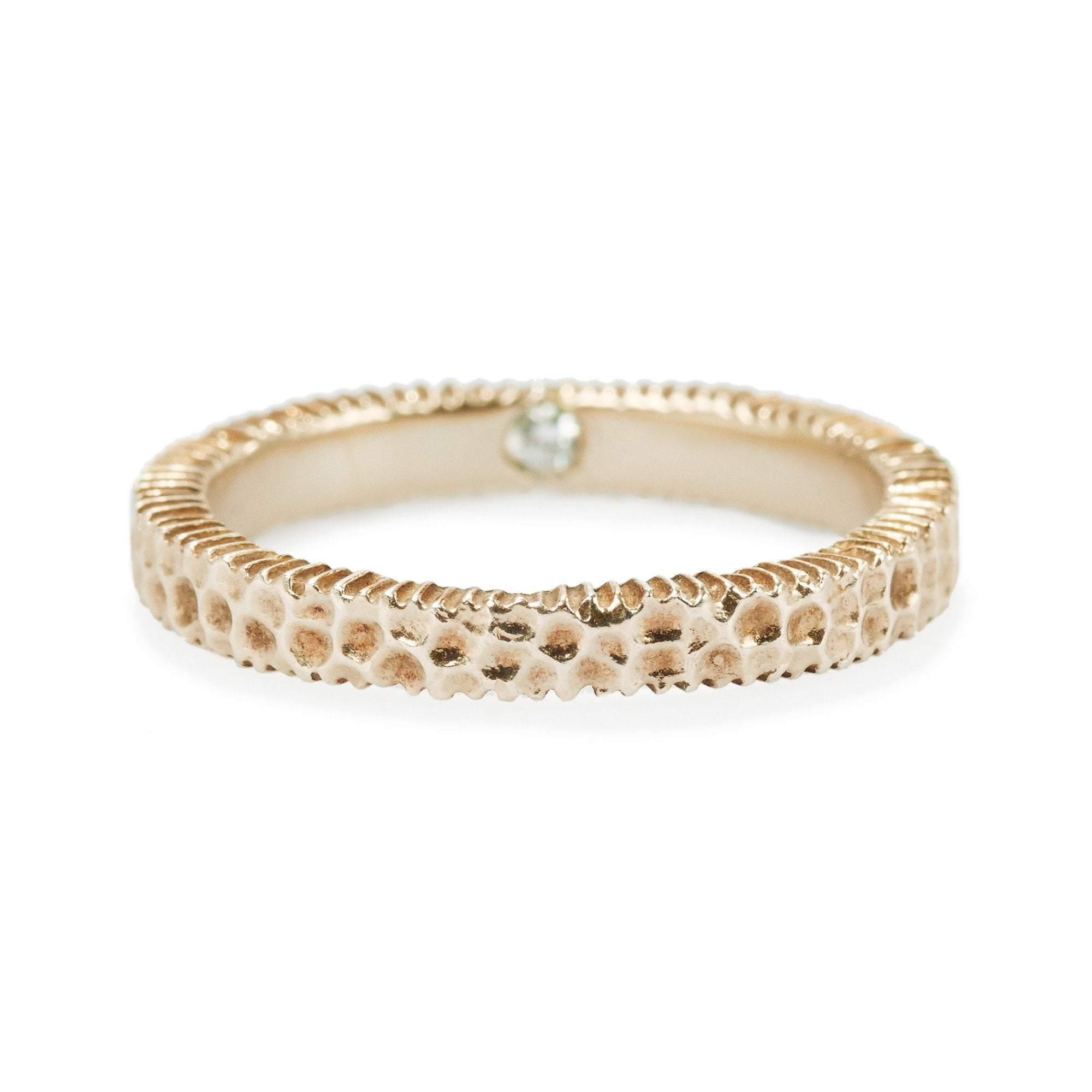 Elizabeth Buenaventura - Hammered Harmony Rose Gold Ring