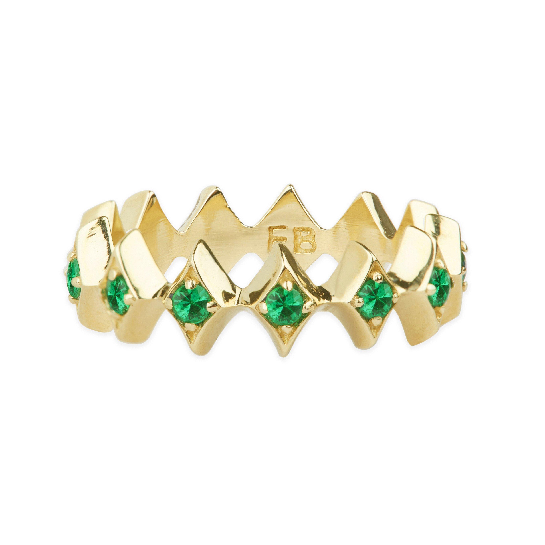Elizabeth Buenaventura - Royal Eternity Emerald Ring