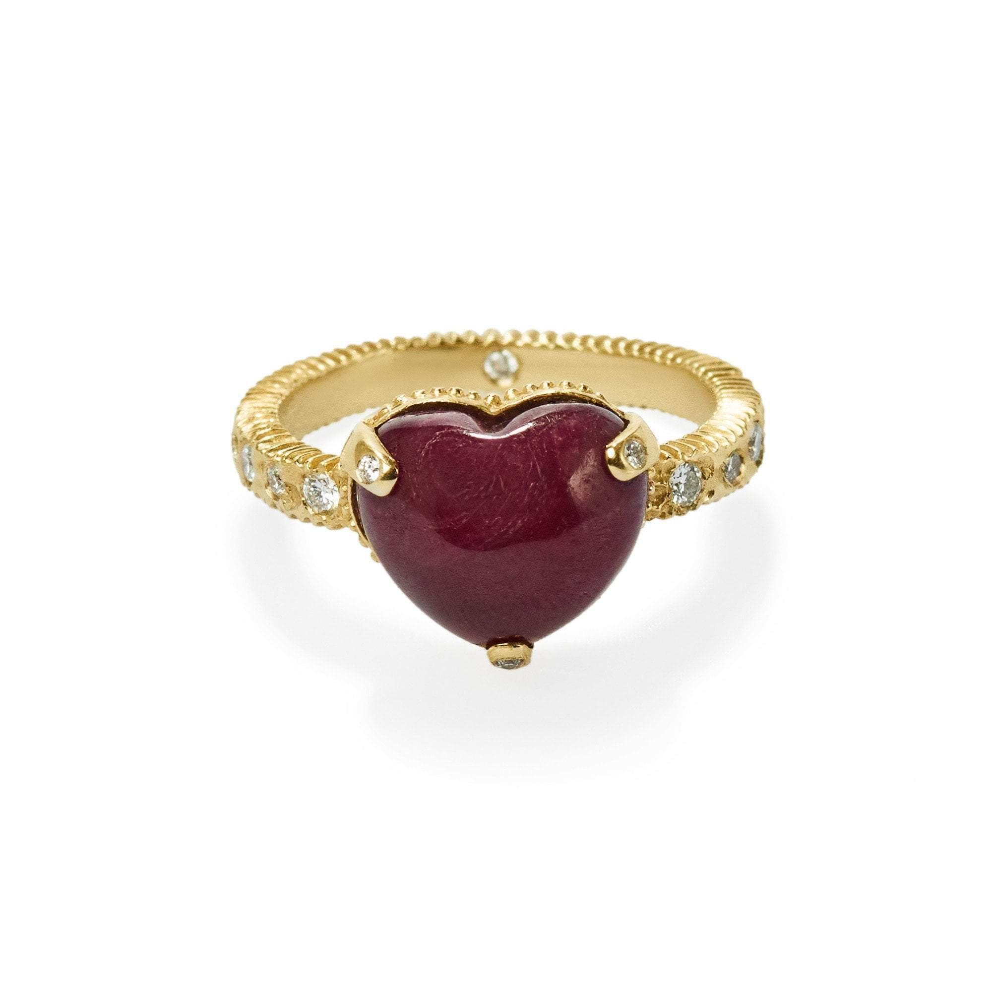 Elizabeth Buenaventura - Ruby Heart Ring