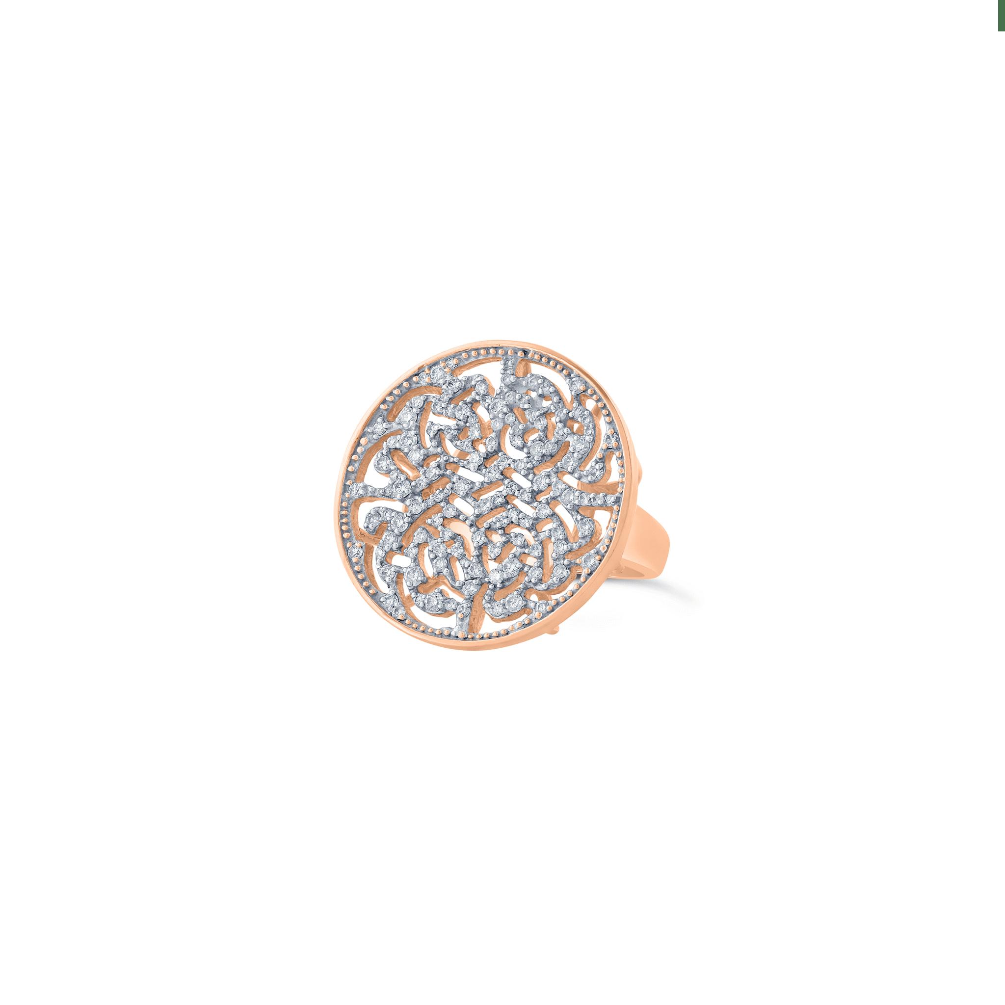 Tresor Collection - Diamond Logo Ring In 18K Gold