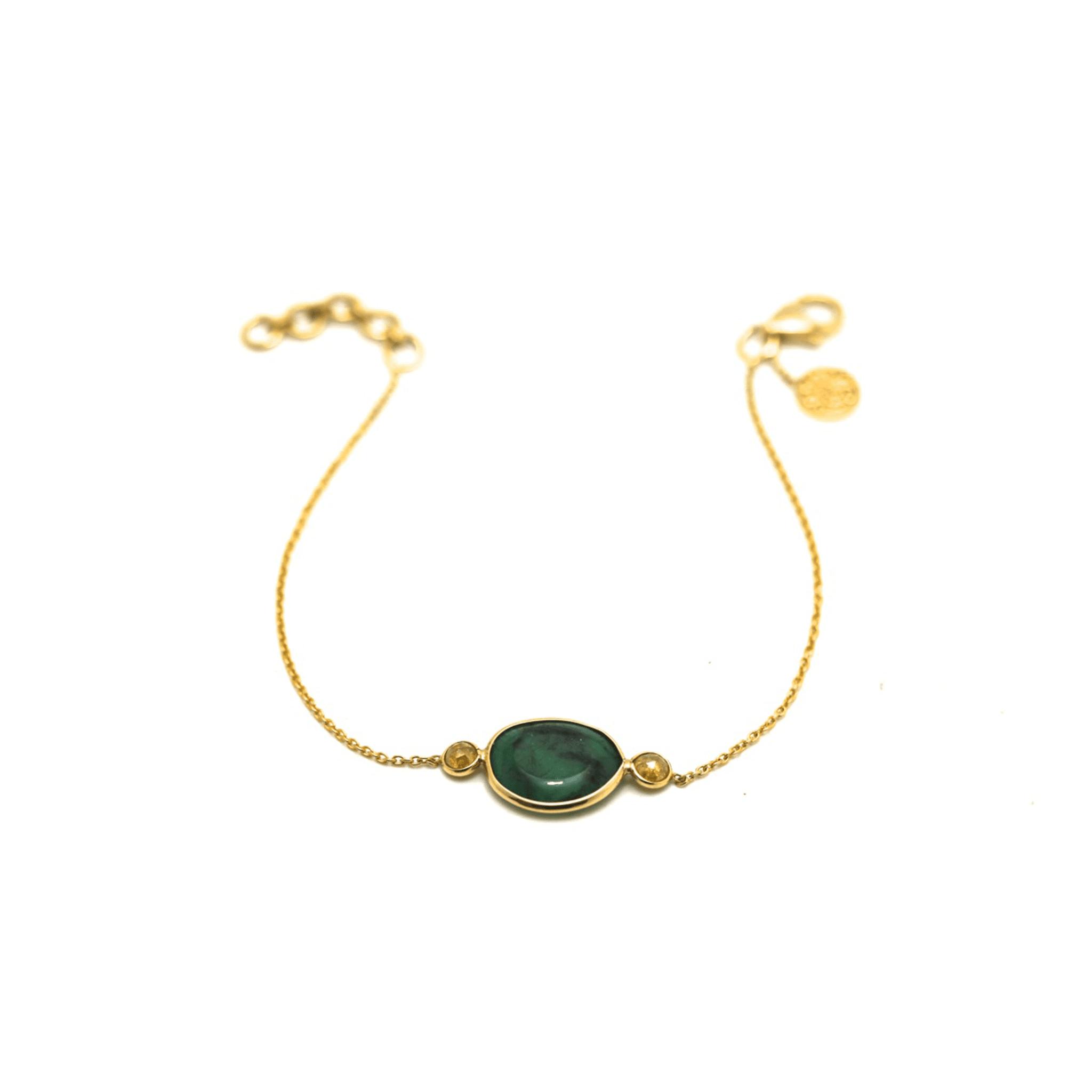 Tresor Collection - Gemstone & Color Diamond Bracelet In 18K Yellow Gold