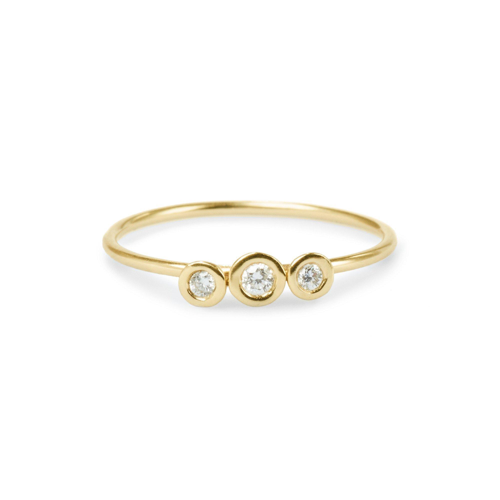 Elizabeth Buenaventura - Trinity Diamond Gold Ring