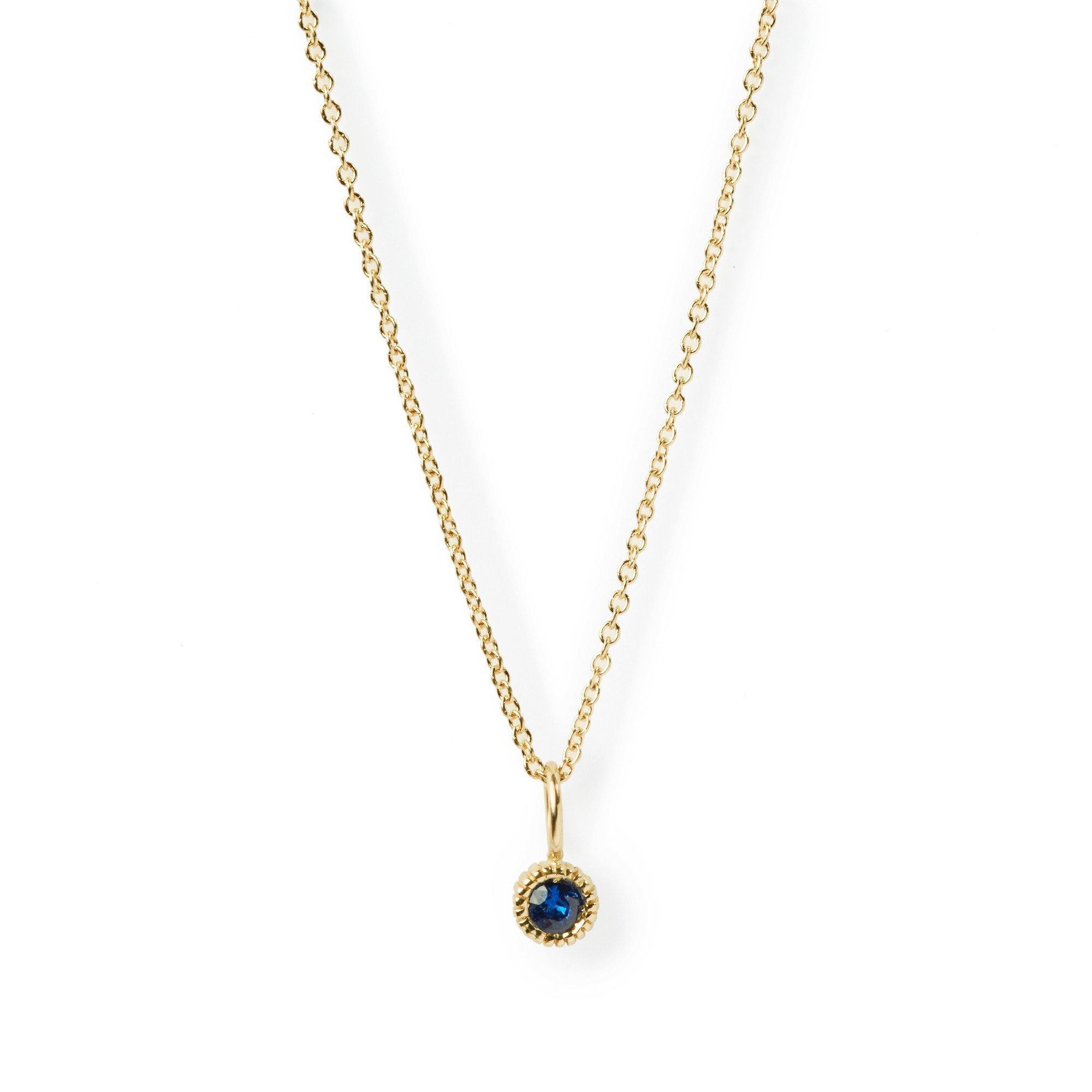 Elizabeth Buenaventura - Youth Sapphire Charm Necklace