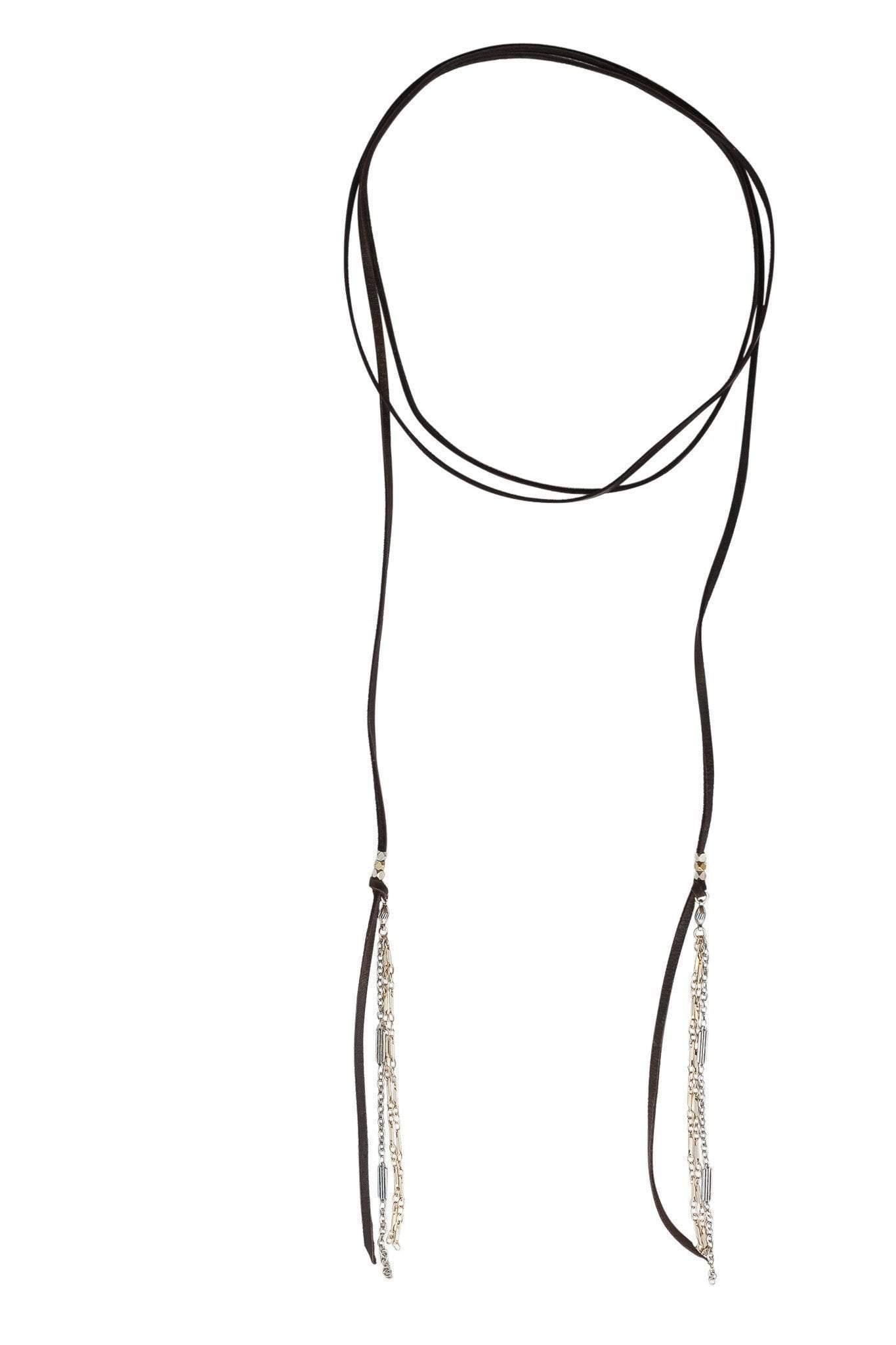 Heather Gardner - Alpine Wallflower Choker in Various Leather Colors