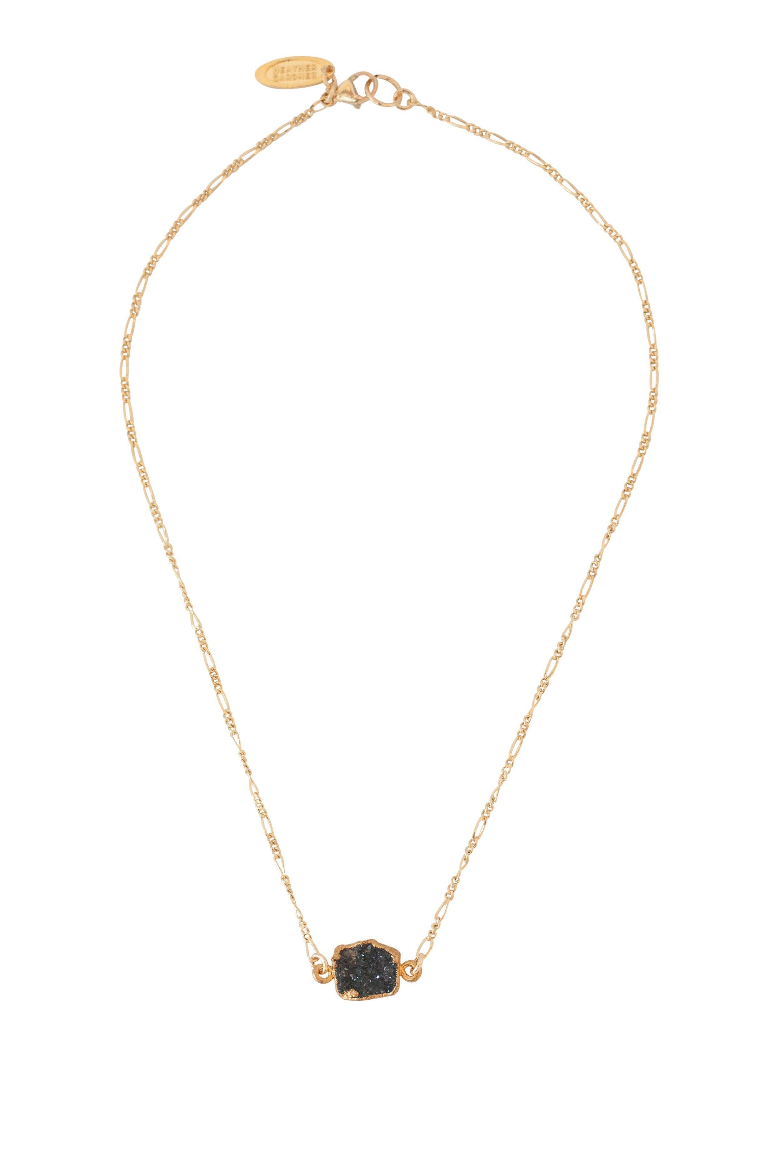 Heather Gardner - Black Druzy Necklace- ONLY ONE LEFT