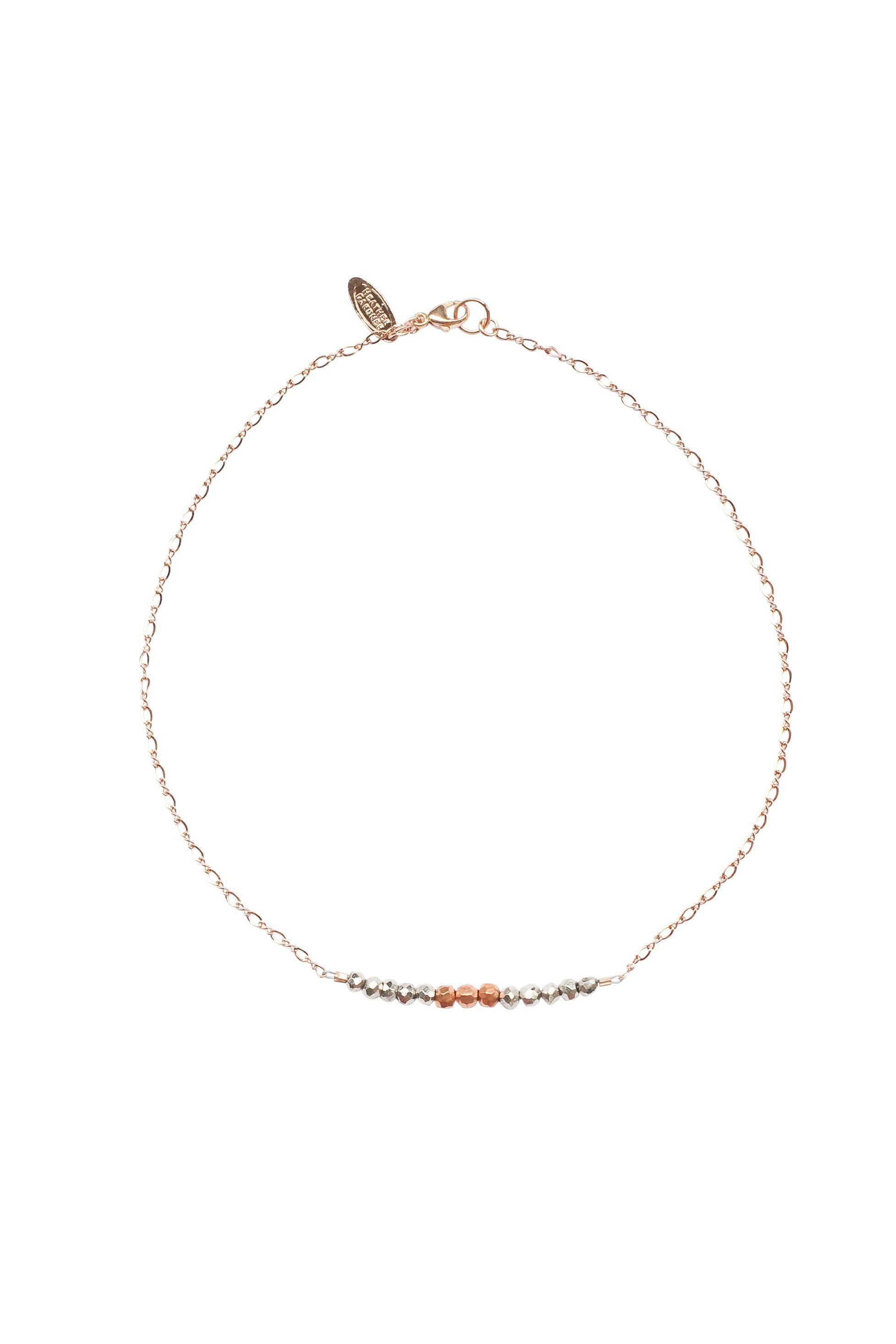 Heather Gardner - Mermaid Gemstone Kids Necklace in Rose Gold w/Gunmetal