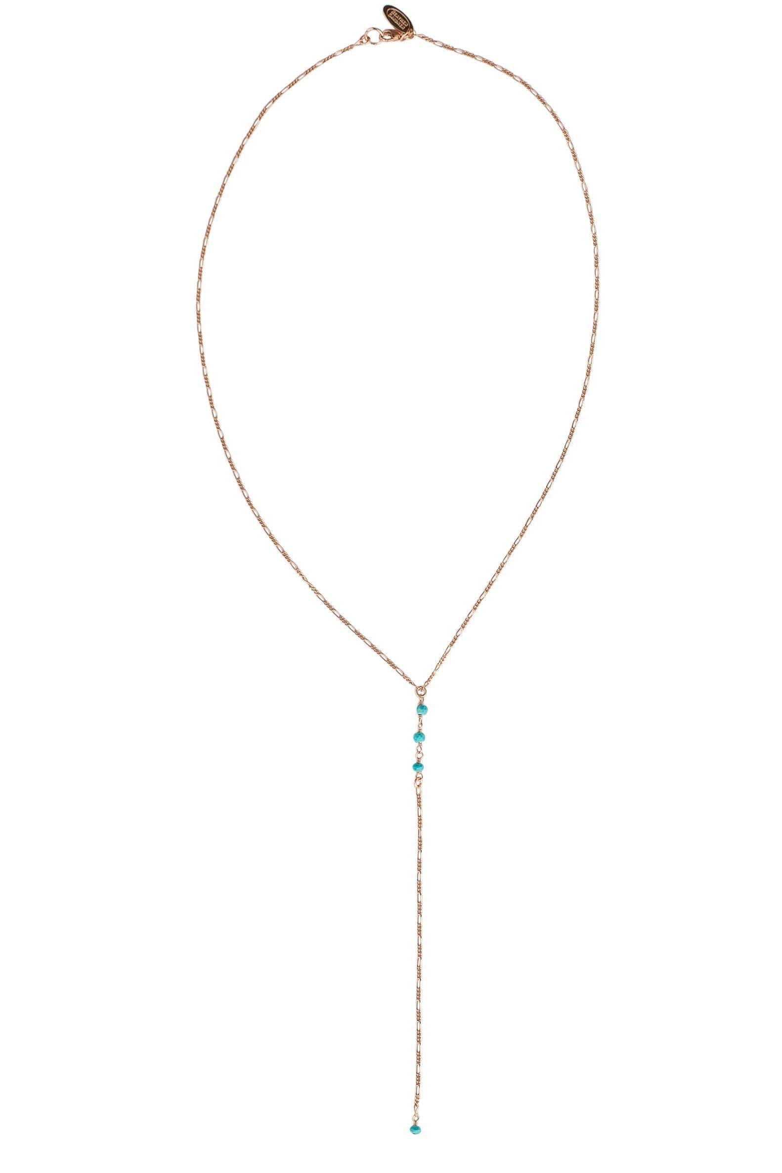 Heather Gardner - Turquoise Gemstone Petite Lariat in Gold, Rose Gold, or Silver