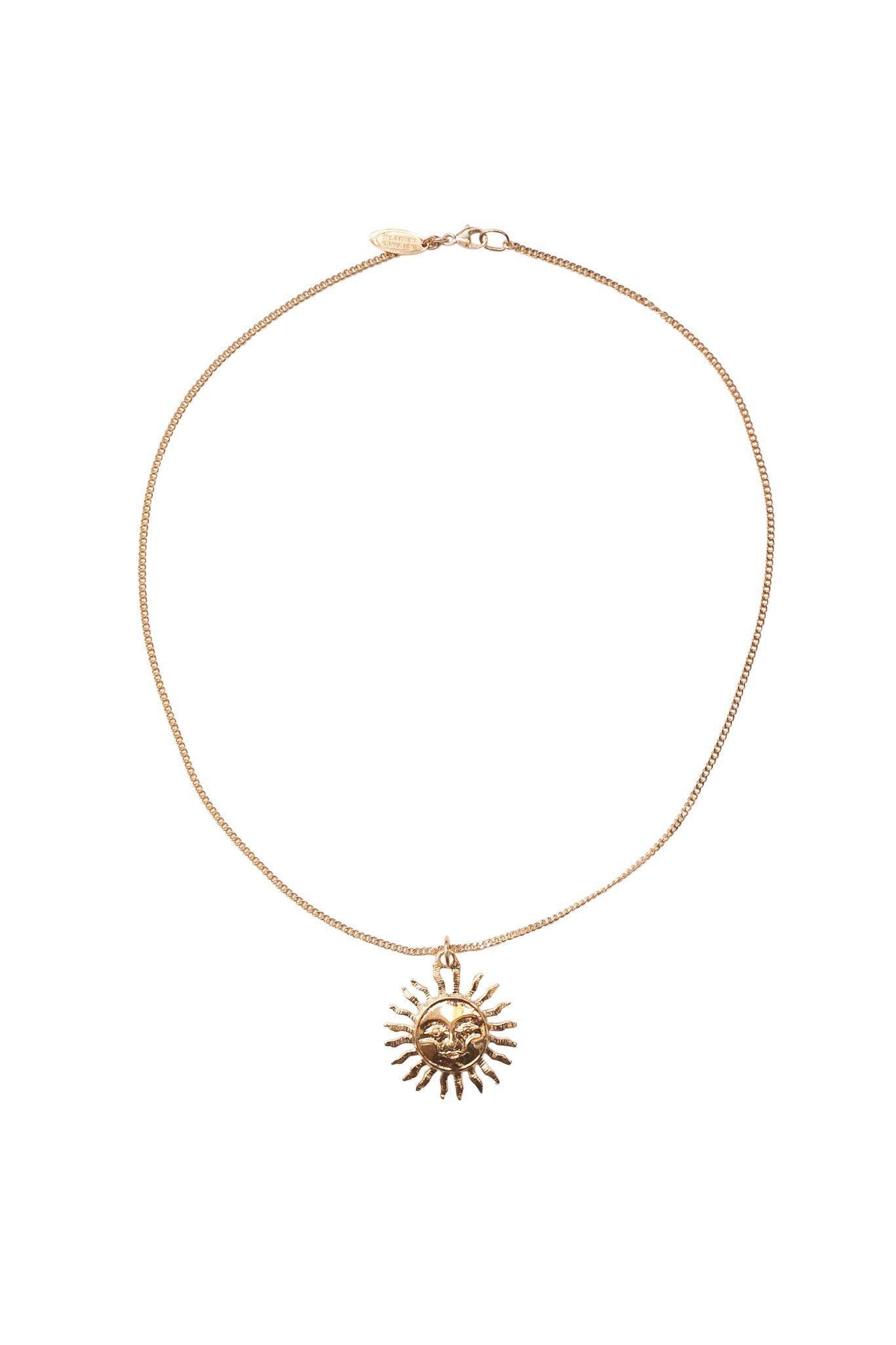 Heather Gardner - Vintage Sun Necklace in Gold, Rose Gold, or Silver