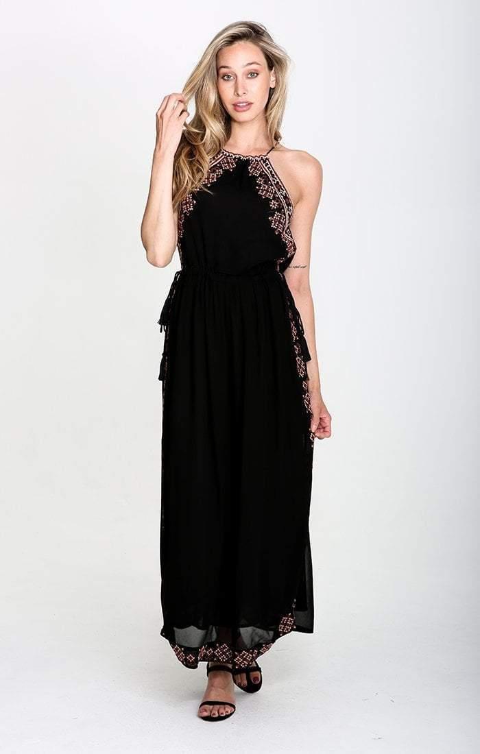 Raga - Ancon High neck slit Maxi Dress