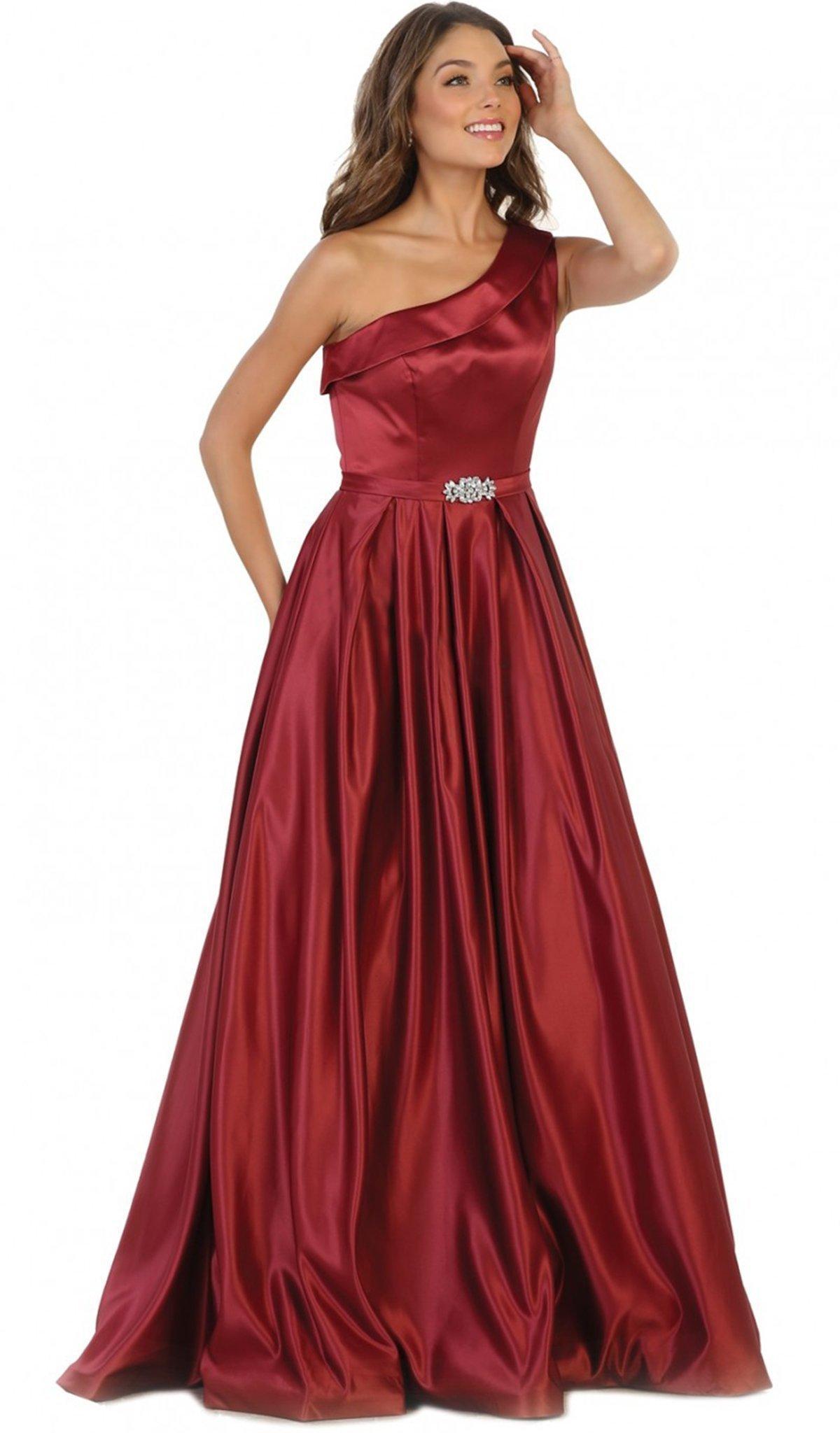 May Queen - Foldover Asymmetric A-line Evening Dress
