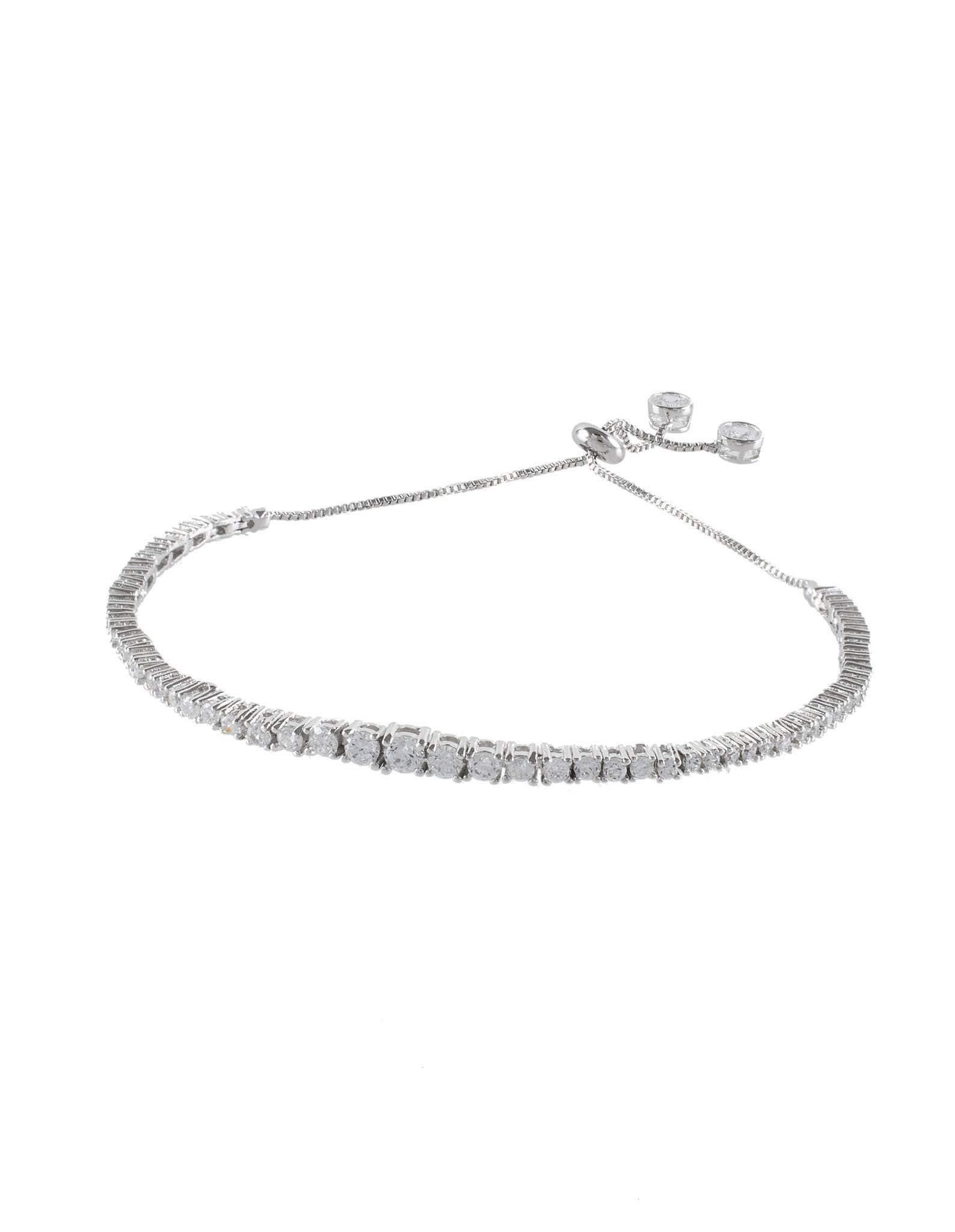CZ by Kenneth Jay Lane - Adjustable Tennis Bracelet