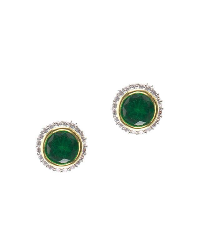 CZ by Kenneth Jay Lane - Birthstone Earrings May
