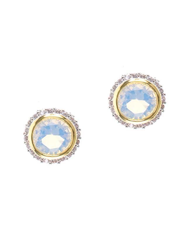 CZ by Kenneth Jay Lane - Birthstone Earrings October