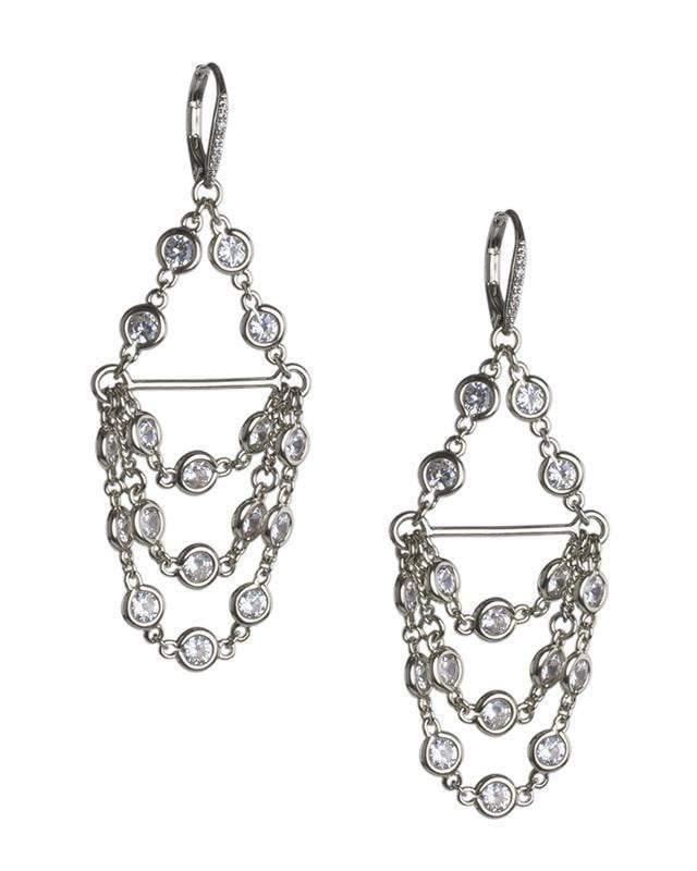 CZ by Kenneth Jay Lane - Chandelier Diamond by the Inch Earring