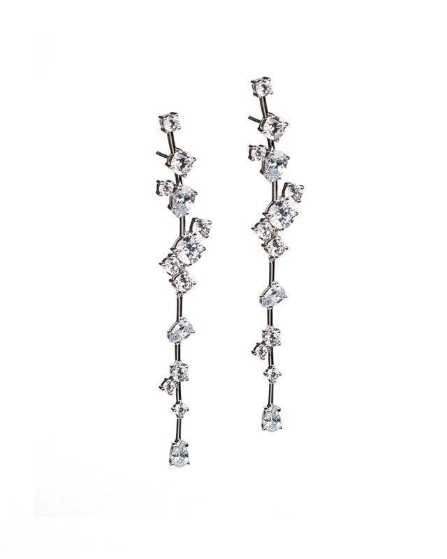 CZ by Kenneth Jay Lane - Cluster Drop Earrings