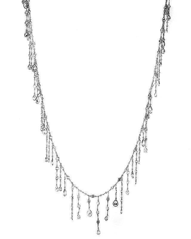 CZ by Kenneth Jay Lane - CZ Fringe Necklace