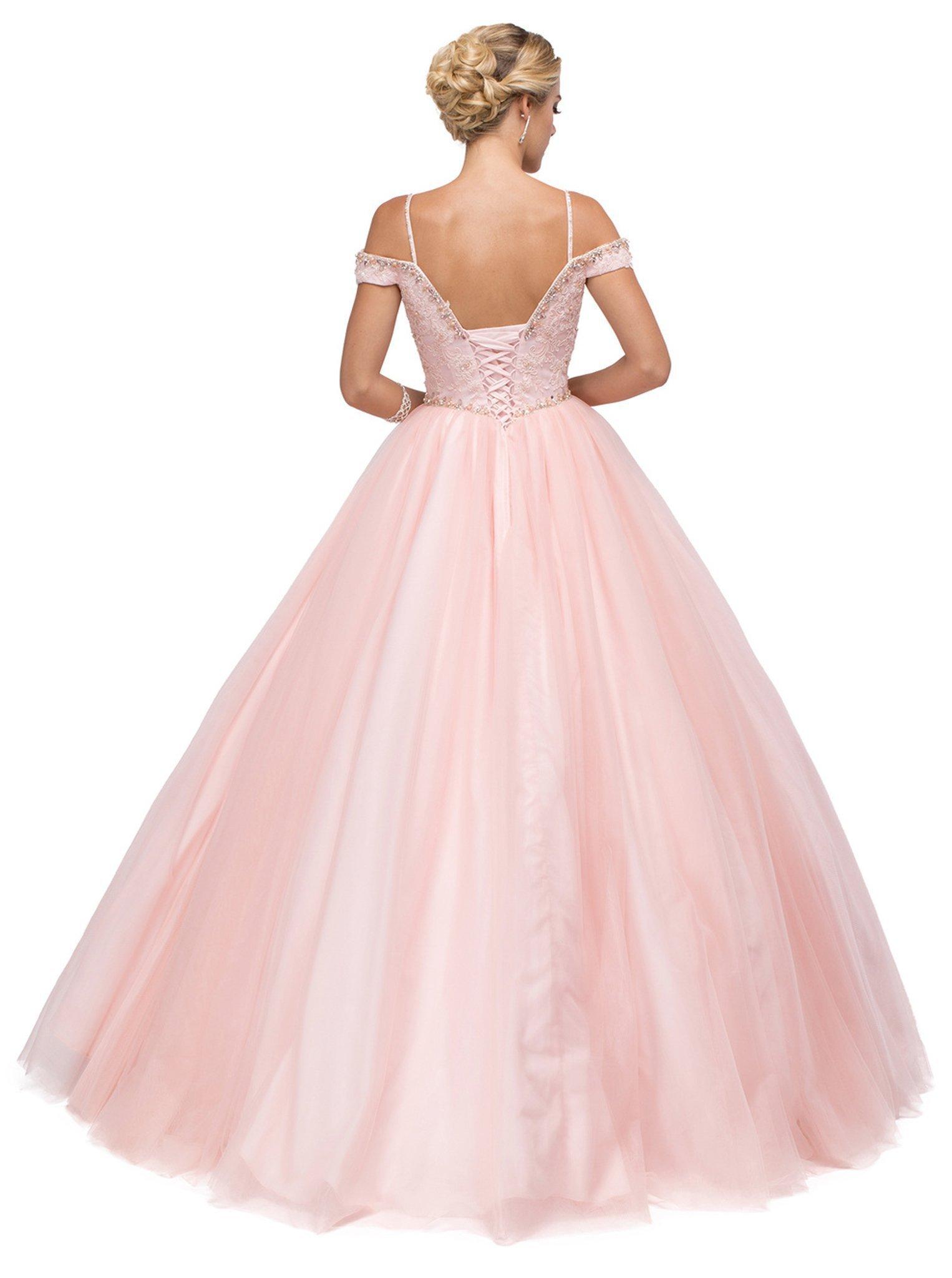 Dancing Queen - 1154 Fabulous Off-Shoulder Beaded Quinceanera Gown